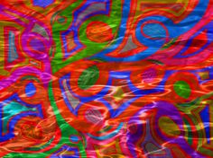 """""""Silkened Ink"""" artwork by Marie Jamieson. Abstract in bold colors."""