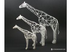 Digtial Safari- Giraffe (Large) by XYZWorkshop on Shapeways Impression 3d, 3d Printed Objects, Digital Fabrication, Geek Gadgets, 3d Prints, Wireframe, Giraffe, Safari, Geek Stuff