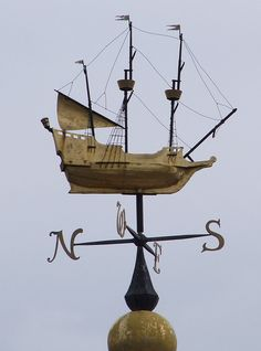Weather vane on top of Morrisons supermarket in Weymouth.