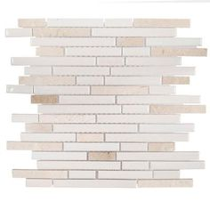 Jeffrey Court Butter Cream 11-1/2 in. x 11-7/8 in. x 8 mm Ceramic Mosaic Tile-99331 - The Home Depot