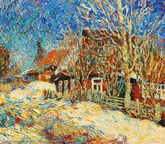 http://www.russianfineart.com/catalog/prod?productid=26179 Spring Came oil canvas Russian Artist Kvashnitsky Vladimir