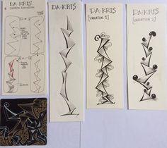 Da-Kris Tangle Pattern by Sharon Robinson (Friends of Zentangle Group on Facebook) #zentangle #tangle #doodling