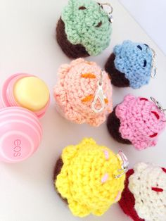 ***Warning*** Prepare for cuteness overload with these adorable Cupcake EOS Lip Balm Cozies/Holders with Split Ring and Lobster Clasp! Pop your