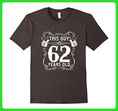 Mens Cool T-Shirt For 62 Years Old. Best Birthday Gift For Men. 3XL Asphalt - Birthday shirts (*Amazon Partner-Link)