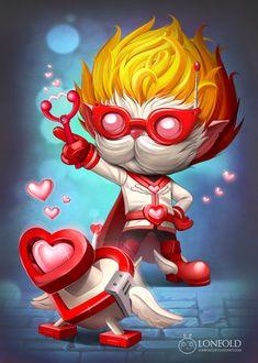 Heartseeker Heimerdinger - League of Legends I need this. I love playing Heimerdinger and I don't really like his skins.
