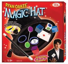 POOF-Slinky 0C2719BL Ideal Ryan Oakes 75-Trick Collapsible Magic Hat Set with Magic Wand and Secrets of Amazing Magic Tricks 35-Page Booklet. Recommended for children 8-years of age and older
