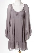 Free People Lilac Plaeted Sheer Flared Sleeve Casual Peasent Shift Dress, I also have it in black.  This dress is amazingly groovy!