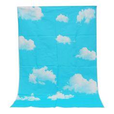 3x5ft Vinyl Outdoor Blue Sky White Cloud Photography Background Backdrop Studio Prop