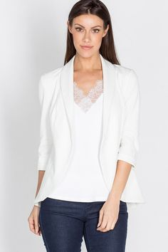 This is the blazer for you! Where casual meets business, this blazer is comfortable and fitted for that perfect boss lady look. Whether you throw it on before heading to the office or out for dinner, you're going to look great in it! Stylist Pick, Online Collections, Fashion Company, Boss Babe, Looking For Women, Looks Great, Fashion Online, Ruffle Blouse, Style Inspiration