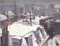 Gustave Caillebotte, Daken onder de sneeuw, Parijs