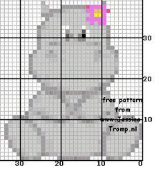 Hippo  perler bead pattern