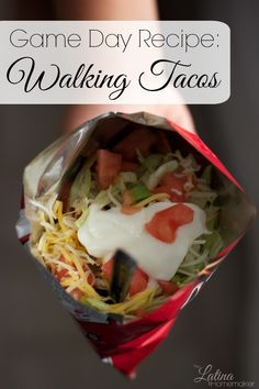 Game Day Recipe: Walking Tacos-A simple and easy to make recipe that will become a family favorite on game days or parties!
