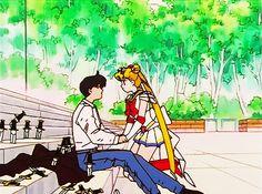 Usako and Mamo Sailor Moon Manga, Sailor Moons, Sailor Moon Girls, Sailor Pluto, Sailor Moon Y Darien, Sailor Moon Screencaps, Best Heroine, Fall In Luv, Sailor Moon Aesthetic