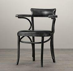 Vienna Cafeé Chair | Restoration Hardware Mix&Match in Black - 2 of Vienna Cafe Armchair + 3 of Vienna Cafe Side Chair + Bench