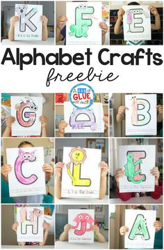 I'm thrilled to bring you our Animal Alphabet Letter Crafts series! This is a great set of letter crafts for your letter of the week or letter recognition activities. Animal Alphabet, Alphabet Letter Crafts, Abc Crafts, Animal Letters, Alphabet Book, Preschool Activities, Animal Crafts, Letter Tracing, Alphabet Games