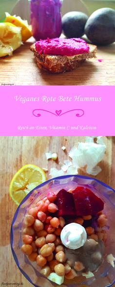 Super einfaches Hummus Rezept mit Roter Bete. Enthält viel Eisen, Vitamin C, Calcium und Proteine. Ein power Aufstrich für die ganze Familie.