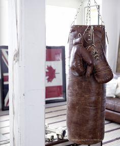 Vintage Gym Bag & Gloves