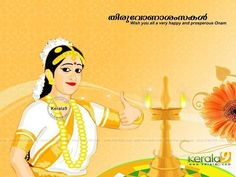 Onam Kerala Girl Wallpaper!!