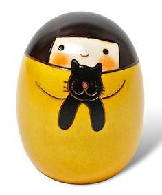 Look at this #zulilyfind! Yellow Remi Kokeshi Doll #zulilyfinds