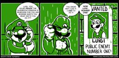 He'd do anything to surpass his brother  O Brother, Where Art Thou?  Created by Dueling Analogs http://www.duelinganalogs.com/comic/o-brother-where-art-thou-2/    #gaming #nintendo #mario #luigi #funny #fanart