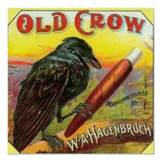 Cigar box label--These birds have too much leisure and are a bad influence on other birds.