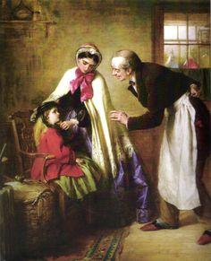 "Primera visita al dentista (""A first visit to the dentist""). Edward Robert Hughes. 1866. Localización: colección particular. https://painthealth.wordpress.com/2016/05/05/primera-visita-al-dentista/"