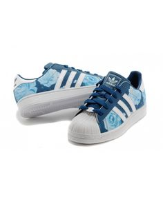 Womens Adidas Originals Superstar Rose Blue Trainer