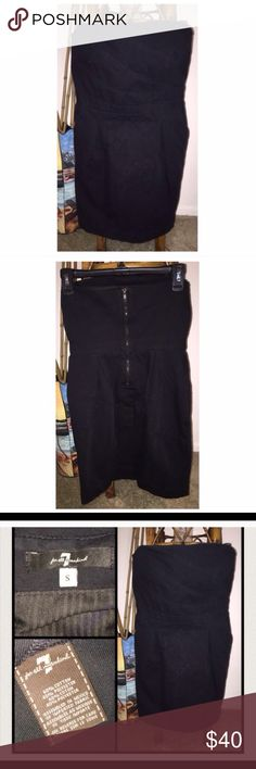 ▪️Seven For All Mankind Dress▪️ Purchase with Purpose! #VegasStrong🙏🏼💙7FAM Dress in size small comes in VERY GOOD condition! This strapless dress is made of a sturdy black cotton and poly mix. There is piping on the sides of the bust to ensure a perfect fit! My all time favorite thing on dress: POCKETS. Pictures don't do this dress justice!  My prices fluctuate often for sales & specials, so catch your favorite items when prices are low. Thank you shopping my closet. Mahalo!🤙🏼♥️ 7 For…