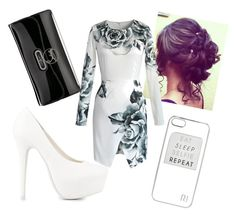 Untitled #46 by mad-hatter-gone-insane on Polyvore featuring Chicwish, Nly Shoes, Christian Louboutin and River Island