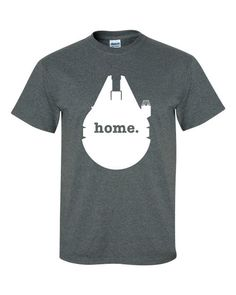 Millennium Falcon Home t-shirt : Awesome parody of those state home tees.