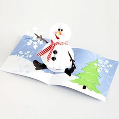 Holiday Cards and Tags You Can Make: Pop-Up Frosty (via Parents.com)