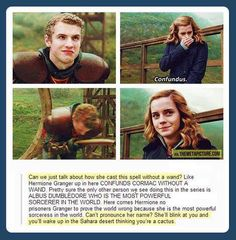 Funny pictures about Hermione is the true badass. Oh, and cool pics about Hermione is the true badass. Also, Hermione is the true badass. Ron Y Hermione, Ron Weasley, Hermione Granger Funny, Harry Potter Jokes, Harry Potter Fandom, Harry Potter Stuff, Harry Potter Spells, Harry Potter Film, Harry Potter World