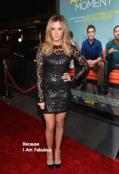 Fabulously Spotted: Ashley Tisdale Wearing Sky Fayina - 'That Awkward Moment' LA Premiere  - http://www.becauseiamfabulous.com/2014/01/ashley-tisdale-wearing-sky-fayina-that-awkward-moment-la-premiere/