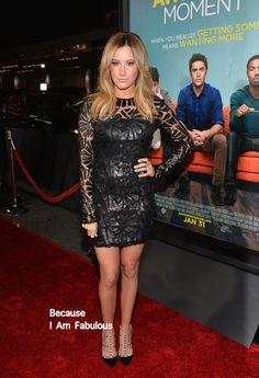 Fabulously Spotted: Ashley Tisdale Wearing Sky Fayina - 'That Awkward Moment' LA Premiere  - http://www.becauseiamfabulous.com/2014/01/ashley-tisdale-wearing-sky-fayina-that-awkward-moment-la-premiere/