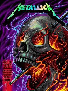Metallica @ Ziggo Dome Amsterdam Night 1 (Foil Variant) by Maxx242 for F4D Studios (2017)