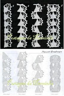 WORKSHOP OF BARRED: Croche - Barradinhos suggestions for when Christmas comes. . .bello, portoghese per free crochet