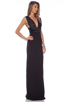 SOLACE London Verdon Maxi Dress in Black