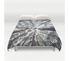 Duvet Cover Trees Forest Wilderness Woods Bedding by StayWildCo