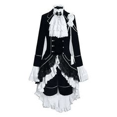 Black Butler Ciel Halloween Anime Cosplay Costumes Suits Block Patchwork Shirt #Dropinthebox #CosplaySuits