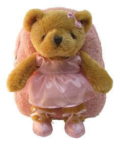 Take a look at this Brown Ballet Bear Plush Backpack on zulily today!