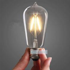 Arteolamp Vintage Edison LED Bulbs B Screw Dimmable Retro Energy Save Warm White Squirrel Cage 4 Watts Led Pendant Lights, Pendant Lighting, China Lights, Incandescent Light Bulb, Lighting Solutions, Led Lamp, Light Decorations, Edison Led, Edison Bulbs