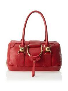 Dolce & Gabbana Women's D-Ring Satchel, Red