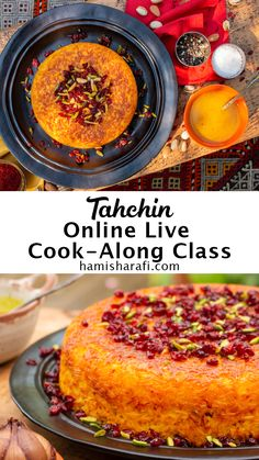 In this online Live cooking class you'll learn how to make Tahchin. Tahchin is a popular Persian rice dish. It's a savoury saffron rice cake, filled with chicken. This dish is ideal for a romantic home cooked dinner, as well as a family feast. The groups are kept small, so you will be able to ask questions whenever you like. You will join the class with up to 7 fellow participants, so it's a great opportunity to virtually meet new people, who share your love for Persian food. Persian Rice, Online Cooking Classes, Saffron Rice, Persian Culture, Rice Cakes, Arabic Food, Rice Dishes, Rice Recipes, Middle East