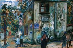Maurice Utrillo (French, Impressionism, 1883-1955): Paris, Montmartre, Rue du Mont-Cenis, l'ancienne Maison Berlioz, 1923