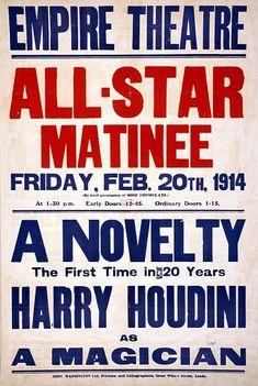 Harry Houdini Magic Magician Poster | eBay