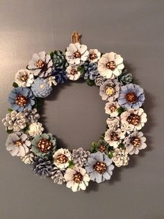 Pine Cone Wreath by BruceandPine on Etsy https://www.etsy.com/listing/508653560/pine-cone-wreath