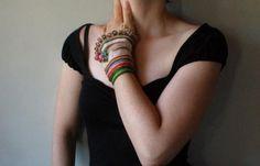 Glee ... Freeform Crochet Cuff by irregularexpressions on Etsy