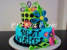 2 Tier Best Wishes Cake