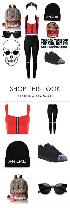 """""""Untitled #62"""" by fangirl-selina ❤ liked on Polyvore featuring WearAll, adidas and T-shirt & Jeans"""
