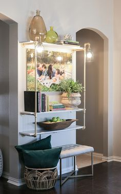 Glam Pipe Shelving with Lighting